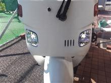 ジャイロキャノピーメーカー・ブランド不明 某オク落札品 レンズユニットLEDバルブ付きの全体画像
