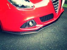 ジュリエッタautoplus Giuliettaフロントリップスポイラー (CARBONの全体画像