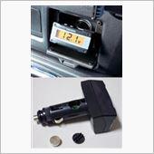 CAR MATE / カーメイト CZ83 ELクロック&電圧計