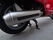 GTS250ieレオビンチ 4Road マフラーの全体画像
