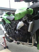 Ninja250Rスーパーバイク フルエキゾースト レーシングマフラーの単体画像