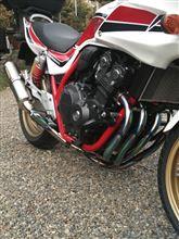 CB400 SUPER BOL D'OR HYPER VTEC Revoヨシムラ 機械曲チタンサイクロン TT/FIRE SPECの単体画像