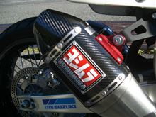 DR-Z400SMUS YOSHIMURA RS-4 Stainless/Carbon Full System Dualの単体画像