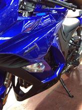 Ninja1000ABSK's Style Ninja1000用  ショート サイドスタンド  2014年モデル装着加工済の全体画像