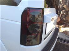 ディスカバリー4Land Rover(純正) ヘッドライト、テールランプブラック加工の全体画像