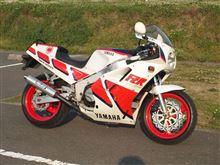 FZR1000ヤマハ(純正) TRX850ホイール流用の全体画像