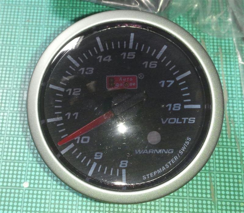 AutoGauge SMワーニング 電圧計 52φ