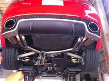 RS5irom Exhaust System バルブアクチュエーター付マフラーの全体画像
