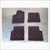 TEZZO style フロアマット ダイヤシリーズ Red/Black