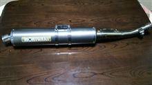 XR250 モタードMORIWAKI モリワキ スリップON  チタンマフラーの単体画像