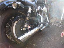 XL1200N ナイトスターScreamin' Eagle(スクリーミンイーグル) ストリートパフォーマンススラッシュダウン スリップオンマフラー(80503-07)の単体画像