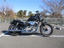 XL1200N ナイトスターScreamin' Eagle(スクリーミンイーグル) ストリートパフォーマンススラッシュダウン スリップオンマフラー(80503-07)の全体画像