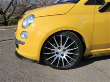 """フィアット500 C (カブリオレ)MAGNETI MARELLI Light Alloy Wheels """"bicolor"""" 7x17""""の全体画像"""