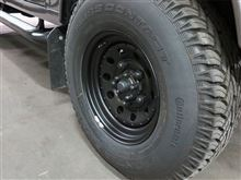 ディフェンダーTF ALLMAKES GRW006 : BLACK MODULAR 7x16 STEEL ROAD WHEELの全体画像