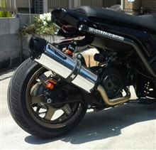 ビーウィズ125Xtwo brothers racing blackversion ステンレスサイレンサーの単体画像