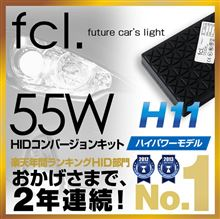 アクアG'sfcl 55W HIDコンバージョンキット H11 8000Kの単体画像