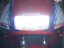 NSR250R不明 LED Motorcycle Headlampの全体画像