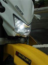 250SBヤフオク CREE製バイク用LEDヘッドライト H4切替(3面発光タイプ)の単体画像