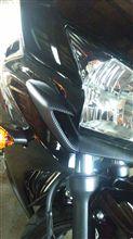 CBR400RHONDA ヘッドライトカバー カーボンプリントタイプの単体画像