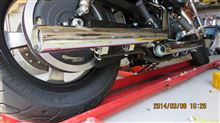 XL1200caVANCE ando HINES ストレートショット スリップオンの単体画像