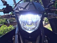 WR125X不明 LED HeadLamps (H4)の単体画像