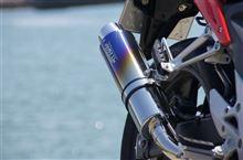 CBR400RWR'S slip-on ステンレス/焼き色(ラウンド)の単体画像