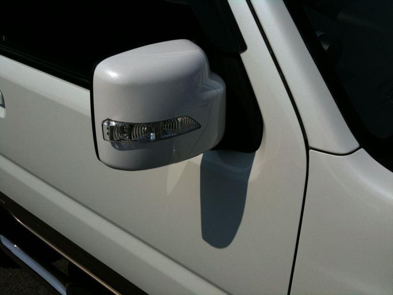 不明 LED大型ドアミラーカバー
