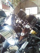 エリミネーター250SEキタコ マルチヘッドライト黒の単体画像