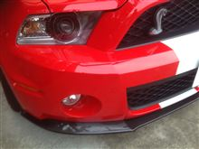 SHELBY GT500TRUCARBON  2010-2012 FORD MUSTANG GT500 LG44KR Chin Spoilerの単体画像
