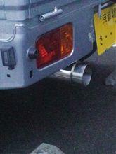 ハイゼットトラックWIRUS WIN コンパクトマフラー バズーカータイプの単体画像