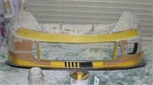 カプチーノ自作 昭和基地製 C7R風フロントバンパーの全体画像