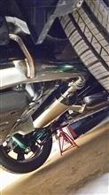 シエナMegan Racing ステンレスリアマフラーの全体画像
