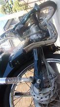 スーパーカブ50デラックス楽天 汎用マフラーの全体画像