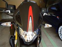 ドルソデューロ750メーカー・ブランド不明 カーボン フロントウィンドシールドフェアリングの全体画像