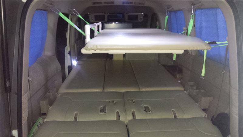 自作 2段ベッド(改良型) のパーツレビュー   ステップワゴン(@ぶっ