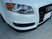 RS4アバント (ワゴン)AS SPORT カーボンフロントスポイラーの全体画像