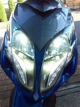 レーシングキング 180Fiヤフオク中華製 LEDヘッドライトH4 6000kの全体画像