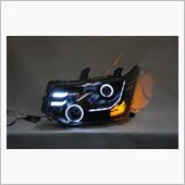 オールカープロダクツ デリカD:5 3Dブラスト加工Wプロジェクターイカリングヘッドライト