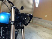 ソフテイル FXS ブラックラインHARLEY-DAVIDSON ロッカーC用ヘッドライトの全体画像