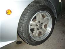 スタリオン三菱自動車(純正) 2.6 GSR-VR純正アルミホイール(フロント用)の全体画像