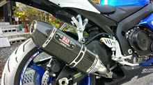 GSX-R600ヨシムラR&D(USヨシムラ) R-77 SLIP-ON SYSTEM WITH CARBON FIBER SLEEVEの単体画像