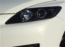 CX-7ガレージ エバーグリーン   イカリング ブラックアウト ウインカー追加の全体画像