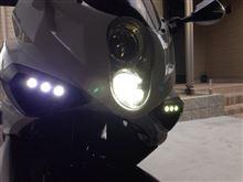GT250R某オークション LEDヘッドライトの全体画像