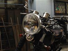 SR400DAYTONA(バイク) ビンテージヘッドライトの全体画像