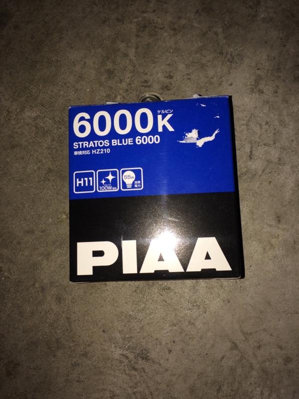 New PIAA 6000K STRATOS BLUE 6000 H11 Headlight Fog Light Bulbs Driving HZ210 F//S