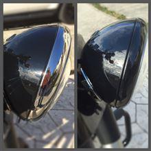 ソフテイル ファットボーイ ローハーレーダビッドソン(純正) ヘッドライト トリムカバー ブラックの全体画像