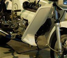 シャリーホンダ(純正) リード80SS純正レッグシールドスポイラーの全体画像