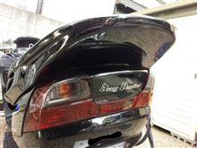 スカイウェイブ250SSカムストック ドラッグボンバー リアスポイラーの全体画像