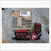 CAR MATE / カーメイト RAZO GT SPEC PEDAL SET AT-S レッド / RP101RE