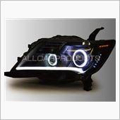 オールカープロダクツ C26セレナ前期 バイキセノン&Wプロジェクタープレミアムカスタム イカリングヘッドライト 2色切替ホワイト/アンバーLED